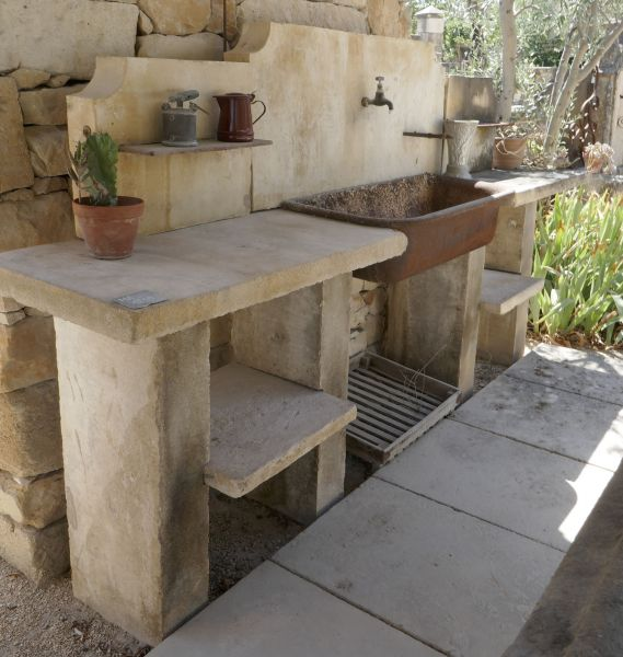 Summer kitchen by Alain Bidal Antique Materials in Provence